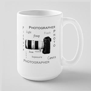 Photographer-Definitions-DSLR Large Mug
