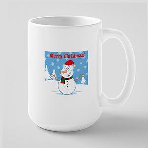 Christmas Snowman Large Mug