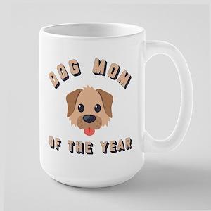 Emoji Dog Mom 15 oz Ceramic Large Mug