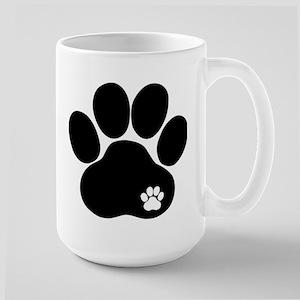 Double Paw Print Large Mug