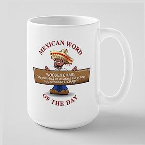 WOODEN CHAIR Large Mug