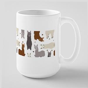 Alpaca Posse Pattern 15 oz Ceramic Large Mug