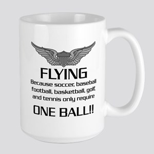 Flying... One Ball! - Army Style Large Mug