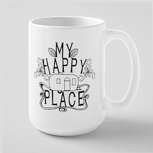 Camping My Happy Place Mugs