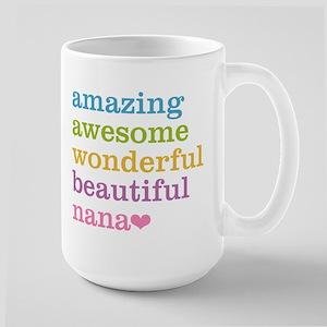 Nana - Amazing Awesome Large Mug