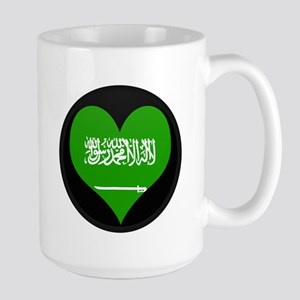 I love Saudi Arabia Flag Large Mug