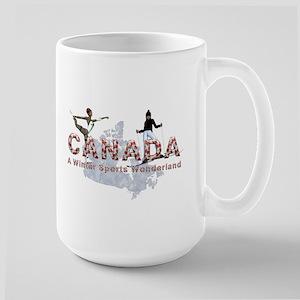 Canada Winter Sports Large Mug