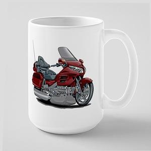 Goldwing Maroon Bike Large Mug