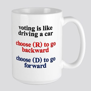 Voting Is Like Driving A Car Mugs