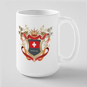 Swiss flag emblem Large Mug