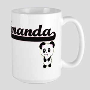 Amanda Classic Retro Name Design with Panda Mugs