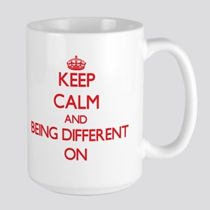 Keep Calm and Being Different ON Mugs