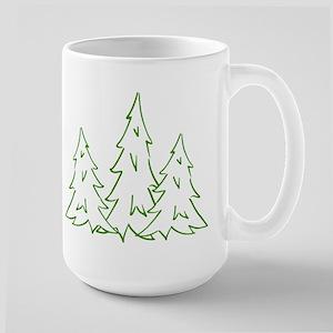 Three Pine Trees Large Mug