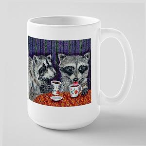 Raccoons at the Cafe Mug