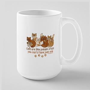 Cats are like potato chips Mugs