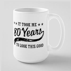 Funny 80th Birthday Large Mug