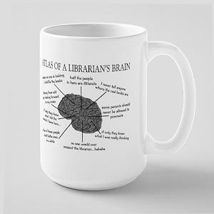 atlas of a librarians brain Large Mug