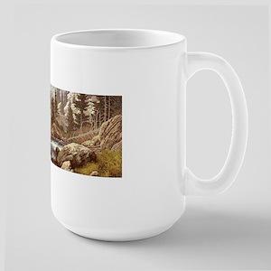 Grizzly Bear Landscape Large Mug