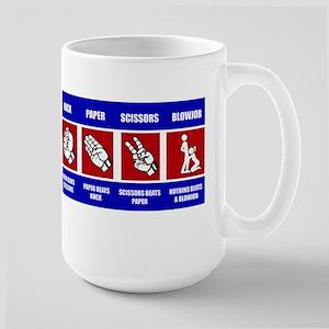 ROCK-PAPER-SCISSORS-BLOWJOB Large Mug
