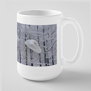 Snowy Owl, Praying Wings Large Mug