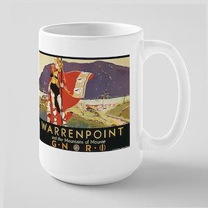 Vintage Warrenpoint Travel Po Large Mug
