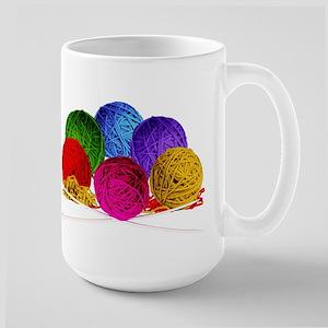 Great Balls of Bright Yarn! Large Mug