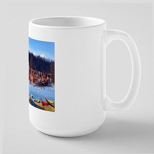 Tlingit Canoes Large Mug Mugs