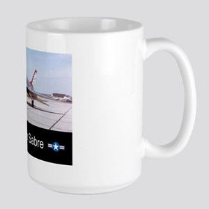 F-100 Super Sabre Fighter Large Mug