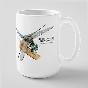 Blue Dasher Dragonfly Large Mug