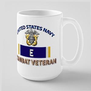 Navy E Ribbon - Cbt Vet Large Mug