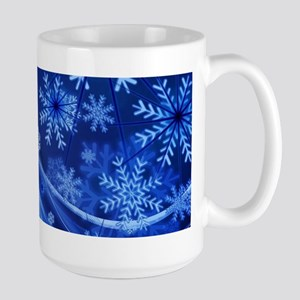Blue Snowflakes Christmas Mugs