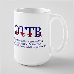 OTTB - The EVERYTHING horse - Large Mug