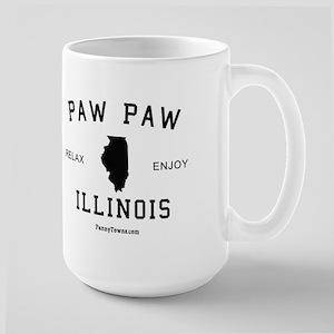 Paw Paw (IL) Illinois T-shirt Large Mug
