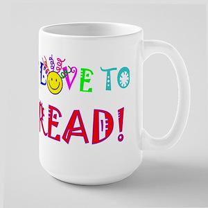 Love to Read 15 oz Ceramic Large Mug