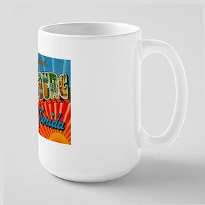 St. Petersburg Postcard Large Mug