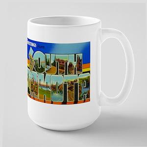 South Dakota SD Large Mug