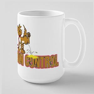 Piss on Gun Control Large Mug