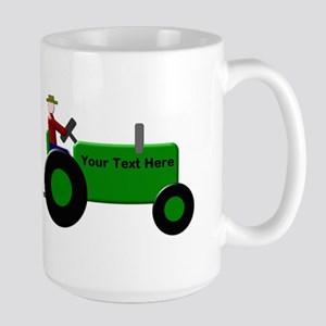 Personalized Green Tractor Large Mug