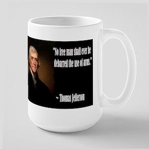 Jefferson On Guns Large Mug