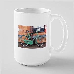 Green Bicycle Vintage Mugs