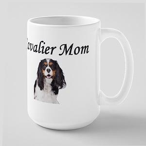 Cavalier Mom-Light Colors Large Mug