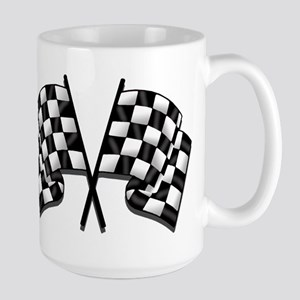 Chequered Flag 15 oz Ceramic Large Mug