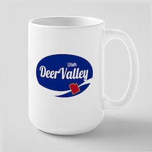 Deer Valley Ski Resort Utah oval Mugs