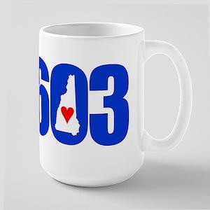 603 NEW HAMPSHIRE LOVE Mugs