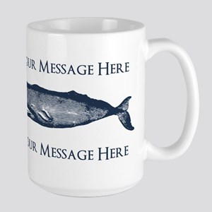 PERSONALIZED Vintage Whale Large Mug