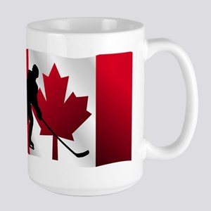 Hockey Canadian Flag Mugs