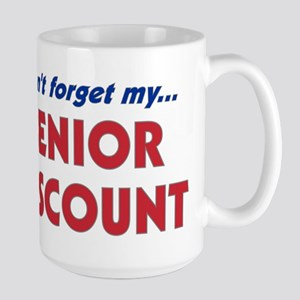 """Don't Forget My Senior Discount"" Large Mug"