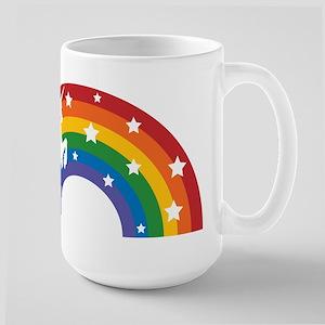 Retro Rainbow Unicorn Stainless Steel Travel Mugs