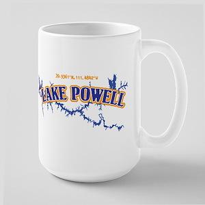 Lake Powell with map coordinates Mugs