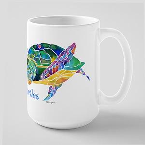Beautiful Graceful Sea Turtle Large Mug